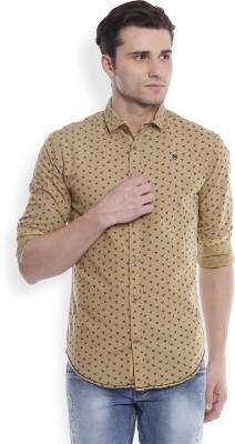Skie Studio Men's Printed Casual Brown Shirt