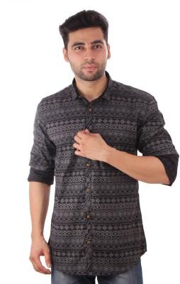 Studio Nexx Men's Printed Casual Black Shirt