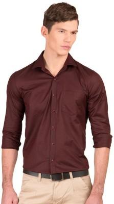 Taurus Men's Solid Casual Brown Shirt