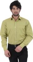 Burdy Formal Shirts (Men's) - Burdy Men's Solid Formal Green Shirt