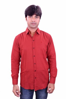 Henry Club Men's Solid Casual Maroon Shirt