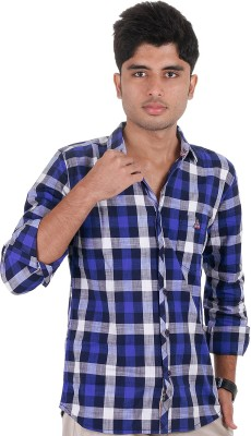 West Flax Men's Checkered Casual Multicolor Shirt