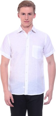 Tabser Men's Solid Casual White Shirt
