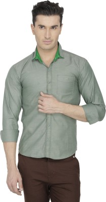 Asher Men's Solid Casual Green Shirt