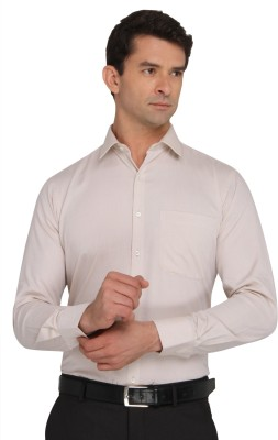 Donear NXG Men's Solid Formal Brown Shirt
