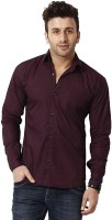 Rvc Fashion Formal Shirts (Men's) - RVC Fashion Men's Solid Formal Maroon Shirt