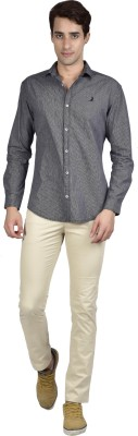 Zid Clothing Men's Checkered Casual Black Shirt