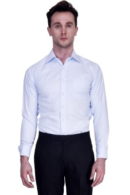 Protext Men,s Self Design Formal, Casual, Party White Shirt