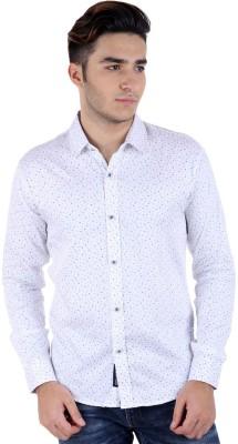 Rakshita Collection Men's Printed Casual White Shirt