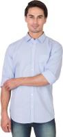 Feel It Formal Shirts (Men's) - Feel It Men's Checkered Formal Blue Shirt