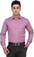 Fluteman Formal Shirts (Men's) - Fluteman Men's Striped Formal Pink Shirt