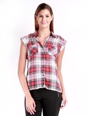 Change 360 Women's Checkered Casual Red Shirt