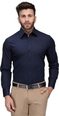 Being Fab Men's Solid Casual Blue Shirt