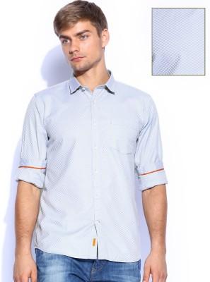Mast & Harbour Men's Checkered Formal Grey Shirt