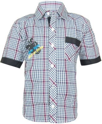 ANT Boy's Striped Casual Blue Shirt