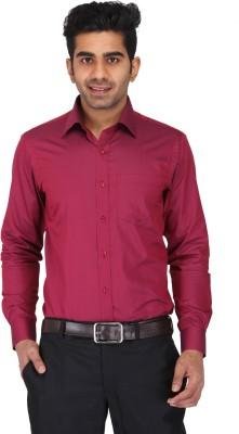 Prague Fashion Men's Solid Formal Red Shirt