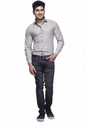 Jads Men's Printed Casual Grey, Blue Shirt