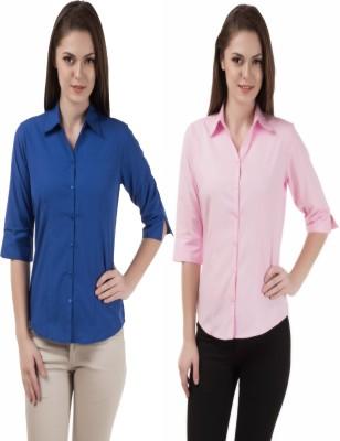 Shoprillo Women's Solid Formal Multicolor Shirt