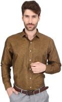 Big Tree Formal Shirts (Men's) - Big Tree Men's Solid Formal Gold Shirt