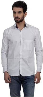 Mild Kleren Men's Solid Casual White Shirt