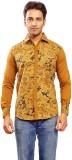 Trinath Men's Self Design Formal Brown S...