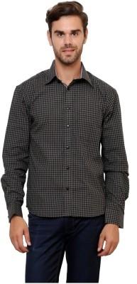 Lemon & Vodka Men's Checkered Casual Grey Shirt