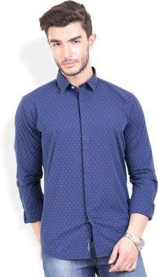 Urban Attire Men's Printed Casual Blue Shirt