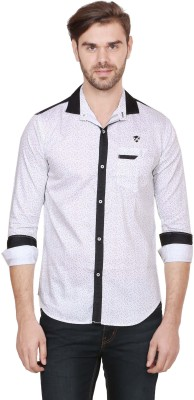 Alive Sport Men's Printed Casual White Shirt