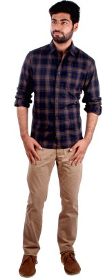 Indian Terrain Men's Checkered Casual Black Shirt