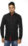 ALBI NYC Men's Printed Casual Black Shir...