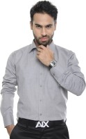 City Style Formal Shirts (Men's) - City Style Men's Solid Formal Grey Shirt