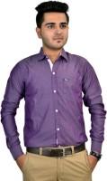 Revine Formal Shirts (Men's) - Revine Men's Solid Formal Purple Shirt
