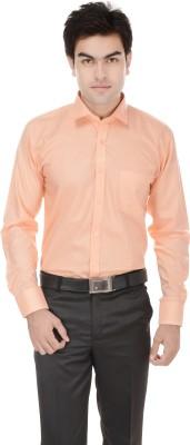 Kalrav Men's Solid Casual, Formal, Party, Wedding Orange Shirt