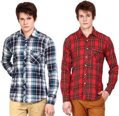Wajbee Men's Striped Casual Multicolor Shirt