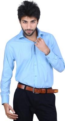 Ishin Designer Studio Men's Solid Casual Green Shirt