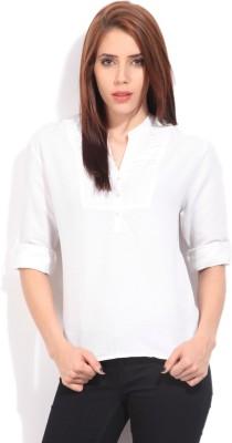Arrow Women's Solid Formal White Shirt