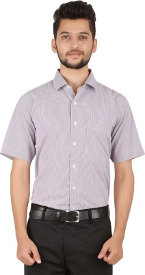 Stylo Shirt Men's Striped Formal Purple Shirt
