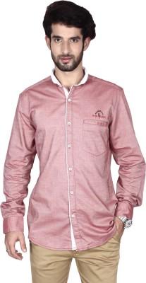 Brecken Paul Men's Solid Casual Brown Shirt
