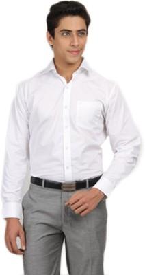 Aries Men's Solid Formal White Shirt