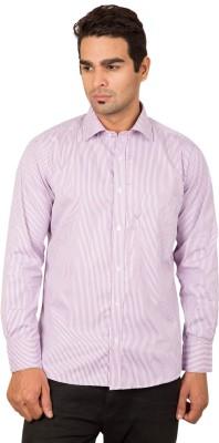 BlackBird Men's Striped Formal Multicolor Shirt
