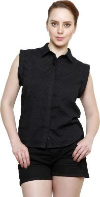 I Am For You Women's Woven Casual Black Shirt