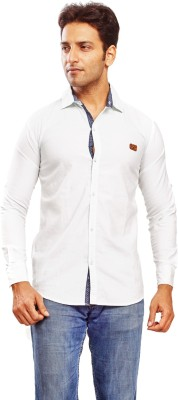 Trinath Men's Solid Casual, Festive, Formal, Lounge Wear, Party, Wedding White Shirt