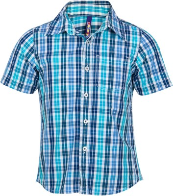 Tickles By Inmark Baby Boy's Checkered Casual Blue Shirt