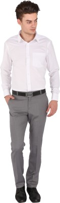 Flags Regular Fit Men's Grey Trousers