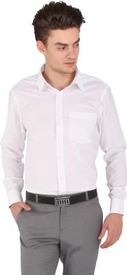 Flags Men's Woven Formal White Shirt