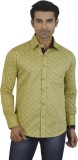 Big Brother Men's Printed Casual Gold Sh...