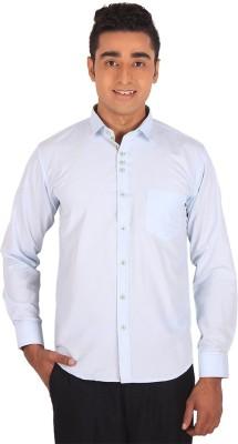 Henry Spark Men's Solid Formal White Shirt