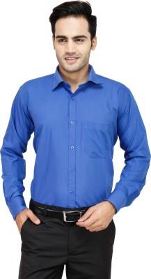 Comfortline Men's Solid Formal Blue Shirt