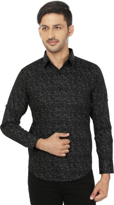 Shubh Shopping Men's Printed Casual Black, Grey Shirt