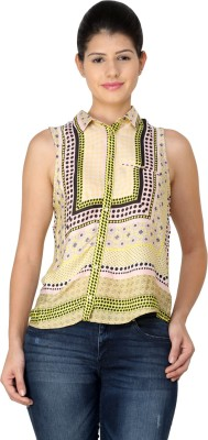 StyleToss Women's Printed Casual Multicolor Shirt